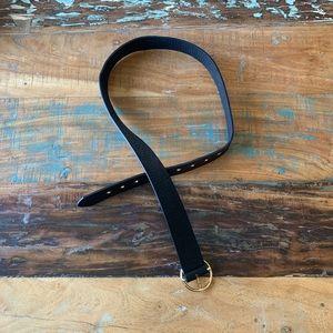 Forever 21 Black / Gold Ring Belt